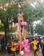 Social distancing at this Dahi Handi celebration