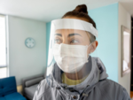 How did the face shield help in preventing the transmission of coronavirus?
