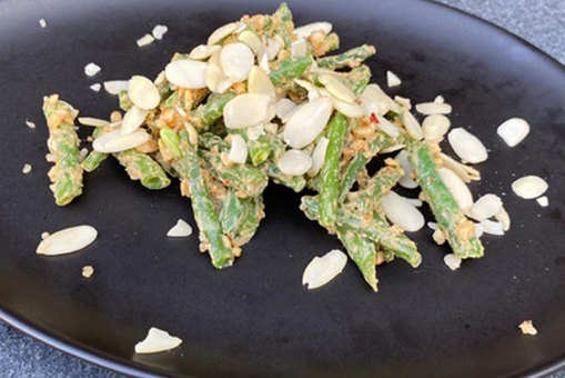 Green Bean Salad with Peanut Butter Dressing