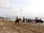 Patrolling at Juhu beach