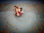Immersion in artificial pond