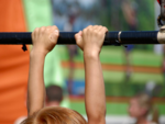 The correct way of using a pull-up bar for children