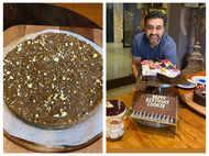 Shilpa Shetty celebrates Raj Kundra's birthday with Moong Dal Halwa Cake