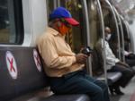 Social distancing in Kolkata Metro