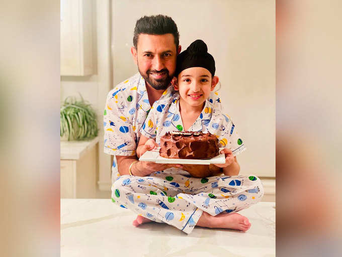 ​Gippy Grewal shares an adorable post on son Gurfateh's birthday; says 'You are my pride'