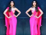 Sari with a corset
