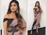 Sari with tights