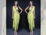 Pre-draped skirt sari