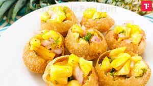 Watch: How to make Pineapple Pani Puri