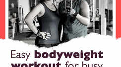 Easy bodyweight workout for busy couples at home