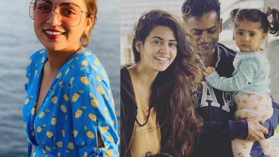 Nazriya joins Alphonse Puthren's daughter Aina's birthday party