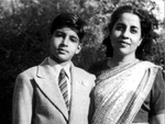 Big B with mother Teji Bachchan