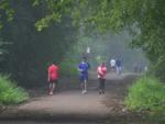 Breezy mornings for joggers