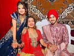 Avneet Kaur with the couple