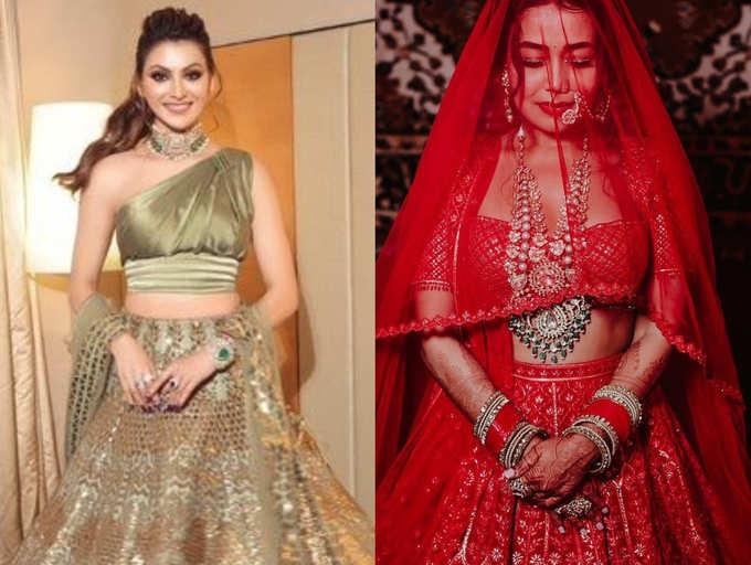 Omg Urvashi Rautela S Lehenga Look Was 10 Times Costlier Than Bride Neha Kakkar S Lehenga The Times Of India