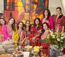 Celebs attend Karwa Chauth's celebration at Anil's home