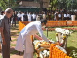 CM Uddhav Thackeray offers floral tributes