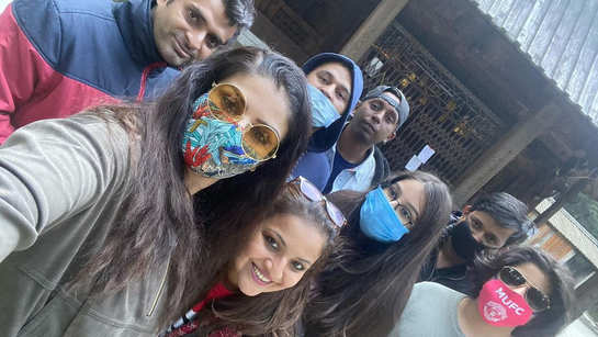 Raveena Tandon turns 'touristy', as she explores Himachal Pradesh with kids Ranbir and Rasha