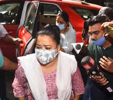Bharti Singh and hubby at NCB office