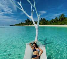 Rakul chills on Maldives beaches
