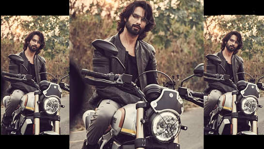 Shahid Kapoor poses on a bike, asks fans if they want to go for a ride?