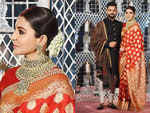Anushka Sharma's red sari look