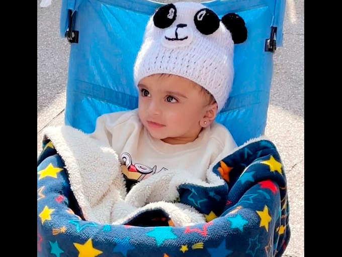 Yuvraaj Hans' son Hreedan looks utterly adorable in his cute panda cap
