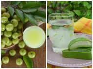 How to make fresh Amla and Aloe Vera juice at home