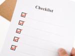 Have a checklist