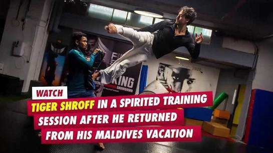 EXCLUSIVE! Watch Tiger Shroff in a spirited training session after he returned from his Maldives vacation