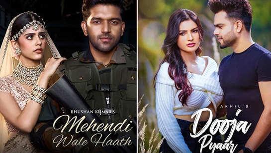Teaser of Guru Randhawa ft. Sanjana Sanghi's 'Mehndi Wala Haath' is out; Akhil shares the poster of his first song of 2021