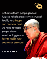 Dalai Lama on the need for a happy mind