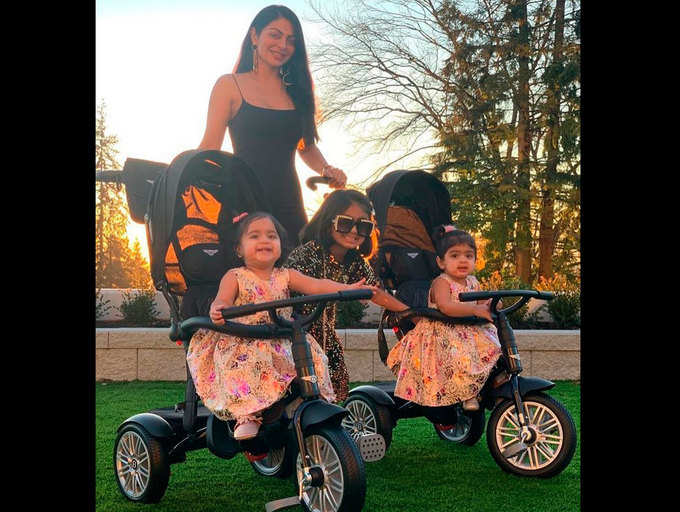 Neeru Bajwa posing with her three daughters is certainly the picture of the day