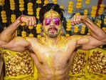New pictures from Varun Dhawan's haldi ceremony