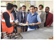 Cricketer Gautam Gambhir launches second Jan Rasoi In Delhi to feed poor at ₹1