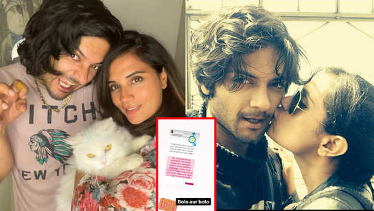 Richa Chadha heaps praise on 'progressive and equal partner' Ali Fazal but warns him not to let it get to his head, chuffed actor writes 'Bolo aur bolo'