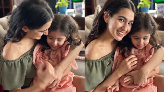 Cuteness alert! This adorable picture of Sara Ali Khan cuddling cousin Inaaya Naumi Kemmu will brighten up your day
