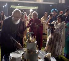 Swara Bhasker's father's birthday party