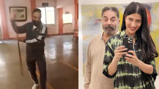 Kamal Haasan stuns everyone as he performs Silambattam in Coimbatore, Shruti Haasan says, 'I always love my dad'