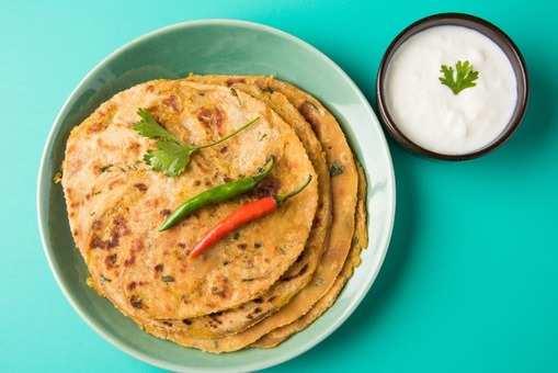 Paratha with liquid dough