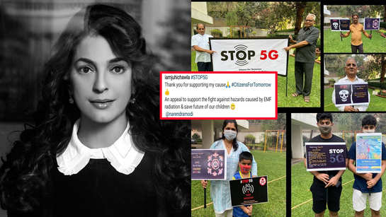 Juhi Chawla posts pictures of her #Stop5G initiative, fans thank her for raising concern