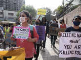 Youth activists protest to demand action against the climate change