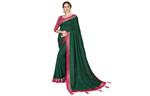 Cotton silk saree in green
