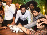 'Cooku with Comali' fame Ashwin and Bala attend the launch of pet cafe