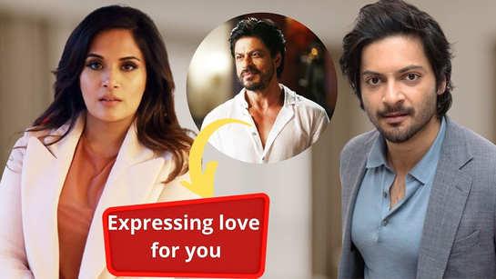Richa Chadha's love for Shah Rukh Khan makes boyfriend Ali Fazal jealous; fans react