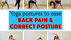 Yoga postures to ease back pain and correct posture