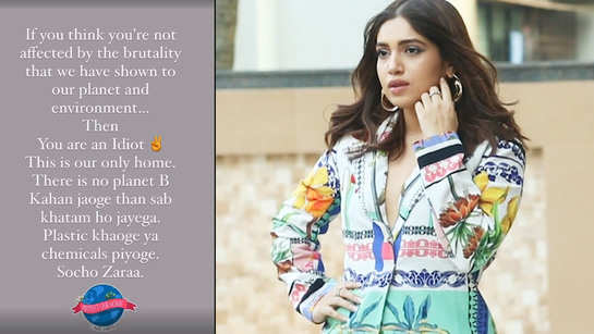 Bhumi Pednekar speaks about 'brutality' towards the planet, reminds everyone 'This is our only home'
