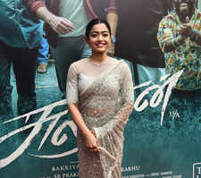 Karthi and Rashmika at pre-release event of Sulthan's trailer