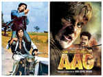 Amitabh Bachchan in 'Sholay' and 'Aag'