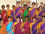 With her dance group